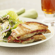 Pressed Manchego Cheese Sammies and Spicy Spanish Salad