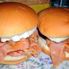 Barbecued Chipped Ham Sandwich