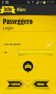 TaxiYoo Milano - screenshot