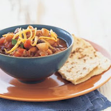 Spicy Three-Bean Chili with Warm Corn Tortillas