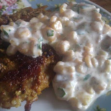 Bombay Chops With Corn and Cumin Raita