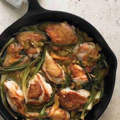 Braised Chicken with Orange and Scallions