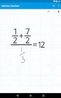 Screenshot of MyScript Calculator