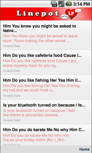 Linepot Pick Up Lines