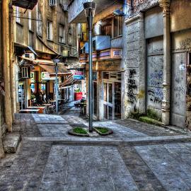 Drama by Stratos Lales - City,  Street & Park  Street Scenes ( shop, market, street, scene, city )