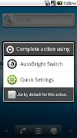 Screenshot of Auto Brightness Switch