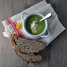 Broccoli Soup with Lemon and Ricotta