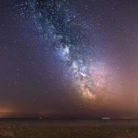 Mid Summer Nights by Sare Moonfruit - Landscapes Starscapes ( milkyway, sky, stars, astrophotography, universe, nightscape, galaxy, milky way )