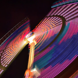Marry Go Round by Abhinav Ganorkar - Abstract Light Painting ( rides, light painting, swings, long exposure, motion blur,  )