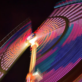 Marry Go Round by Abhinav Ganorkar - Abstract Light Painting ( rides, light painting, swings, long exposure, motion blur, , the mood factory, mood, lighting, sassy, pink, colored, colorful, scenic, artificial, lights, scents, senses, hot pink, confident, fun, mood factory  )