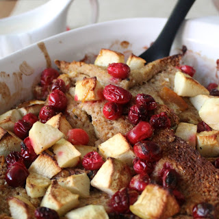 Cranberry, Apple & Marmalade Bread Pudding