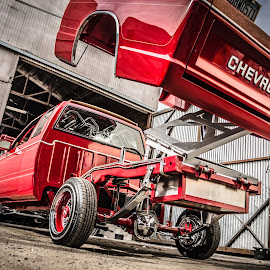 Arizona Mini by Cali Original - Transportation Automobiles ( lowrider, red, chevrolet, truck, arizona, art, s10, mini )