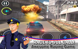 Screenshot of Cop Car Smash ! Police Racer