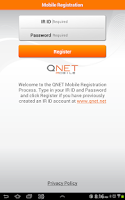 Screenshot of QNET Mobile