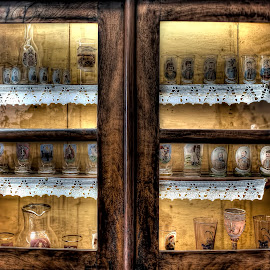 by Гојко Галић - Artistic Objects Furniture ( cupboard, dark, glass, furniture, antique )