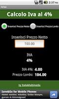 Screenshot of Iva al 4%