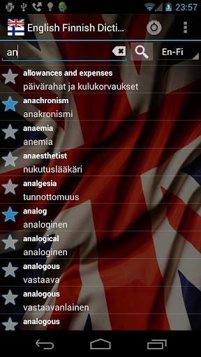 Offline English Finnish Dict.