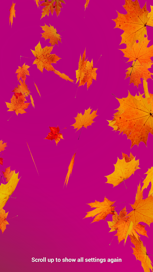 Autumn Leaves Live Wallpaper Screenshot 7