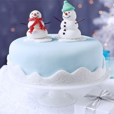 Snowman Friends Cake Decoration