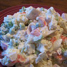 Dee's Cauliflower and Seafood Salad