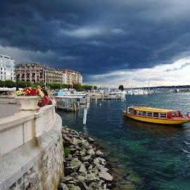 STORMY WEATHER by Wojtylak Maria - Landscapes Weather ( stormy, clouds, june, switzerland, weather, lake,  )