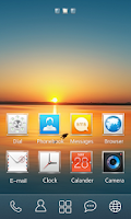 Screenshot of Square GO Launcher Theme