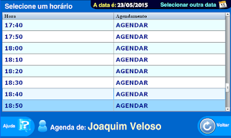 Screenshot of Agenda online