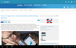 Screenshot of Notizie su Android