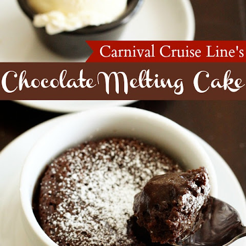 Carnival Cruise Lines's Warm Chocolate Melting Cake