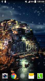 Greece Night Live Wallpaper HD - screenshot