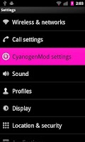 Screenshot of Basic Pink for CM7