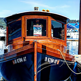 Wooden Boat by Gary Winterholler - Transportation Boats