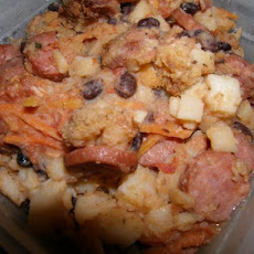 Rustic Sausage With Potatoes Casserole