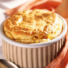 Ham, Corn, and Cheese Soufflé
