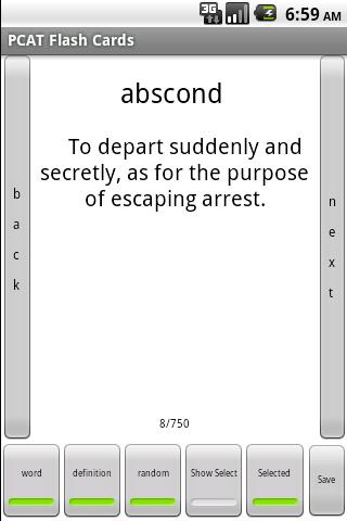 PCAT Vocabulary Flashcards