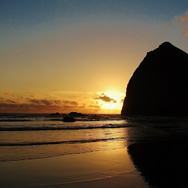 haystack rock  and sea stacks by Ryan Chornick - Landscapes Beaches (  )