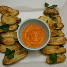 Roasted Fingerlings with Romesco Sauce