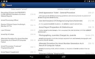 Screenshot of NYPD Patrol Guide