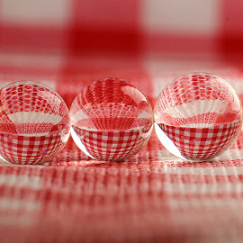 by Dipali S - Artistic Objects Other Objects ( red, check, reflections, spheres, refraction, color, colors, landscape, portrait, object, filter forge )