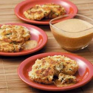 Crab Cakes with Red Pepper Sauce