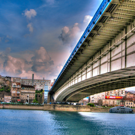 Belgrade bridge by Srbx  Cicapo - Buildings & Architecture Bridges & Suspended Structures ( belgrade, brankov most, beograd )