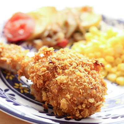{Oven-Baked} Crispy Cholula Chicken