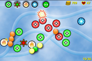 Screenshot of Bubble Defense