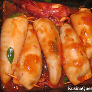 Kalamarakia Yemista (Greek Stuffed Squid)