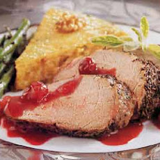 Roast Pork Tenderloins with Cranberry-Port Sauce