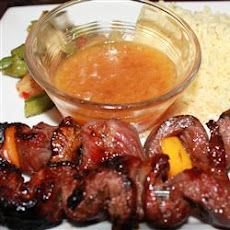 Mango-Spiced Steak Skewers