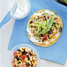 Turkey and Black Bean Tostadas