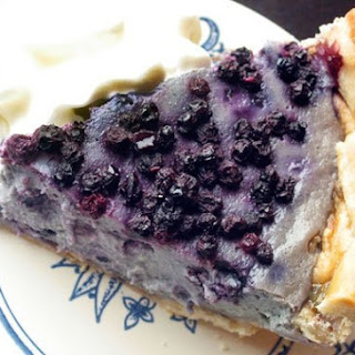 Blueberry Lavender Cream Pie