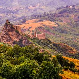 La rocca by Michele Vitulano - Landscapes Mountains & Hills ( mountain, castle, forest )