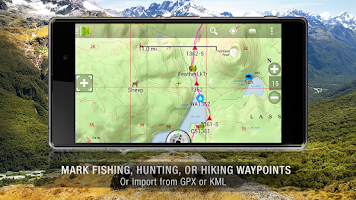 Screenshot of BackCountry Navigator TOPO GPS